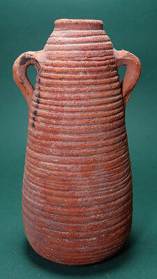 Ancient Jar With 2 Handles Terracotta Roman Byzantine 300-500 Ad
