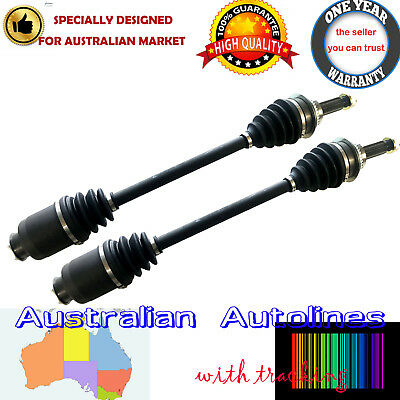 2 New CV Joint Drive Shafts for Subaru Impreza 2WD 4WD 93-04 incl. WRX with ABS