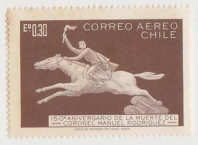 (CH615) 1969 CHILE 30c BROWN Rodriguez AIR