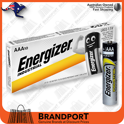 AAA Energizer Industrial Professional Battery x10 1.5v EN92 MN2400 LR03 EXP2025+