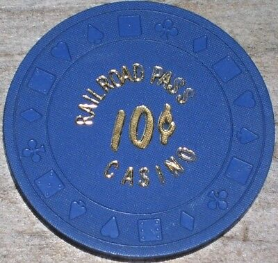 .10 Frac 3Rd Edt Gaming Chip From The Railroad Pass Casino Henderson Nv.