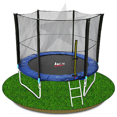 8FT Trampoline With Safety Net Enclosure Padding Ladder Rain Cover Trampolines