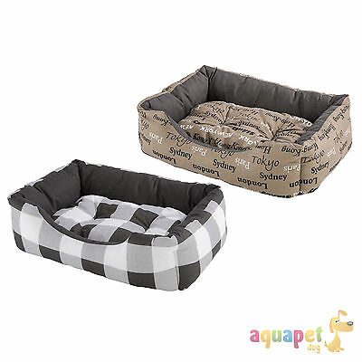 Ferplast Coccolo Dog Cat Cushion Various Sizes Cities or Check Design • EUR 27,41