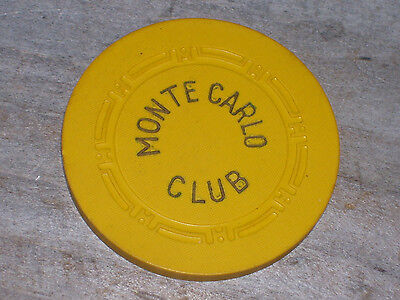 n/d 2ND EDT CHIP FROM THE MONTE CARLO CLUB CASINO LAS VEGAS NV R8