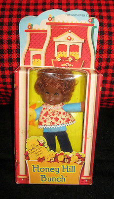 MINT+NEWinBOX~1975~MattelVINTAGE~NRFB~HONEY HILL BUNCH~CURLY Q~African American~