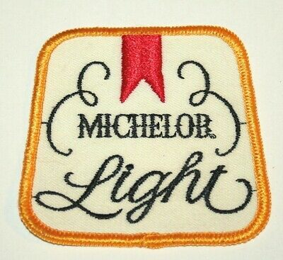 Vintage Michelob Light Beer Distributor Cloth Patch 1970's NOS New