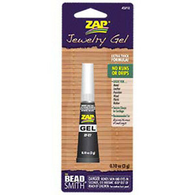 Zap Jewelry Gel Super Glue - extra thick formula for Beading, Kumihimo & Craft