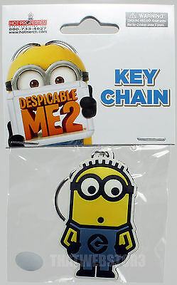 BRAND NEW Despicable Me Tom Minion Rubber Keychain ~ Officially Licensed