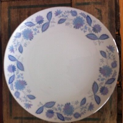 Genuine Porcelain China Plate made in Japan Blue and Violet Flowers