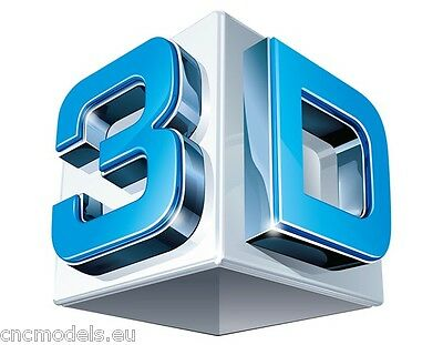 5 pcs. any files CNC 3d Relief Model STL for Router Engraver Mill Woodworking