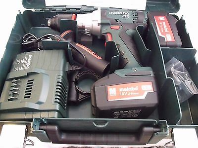 Metabo Cordless Drill Sb 18 Ltx Impuls - 2 Batteries & Carry Case Free Uk P&p