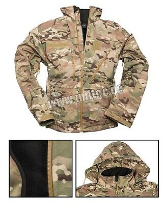 Multitarn SOFTSHELL Fleece Outdoor JACKE SCU 14 Tarnjacke Army Coat S Small