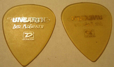 BUZ MCGRATH from UNEARTH Guitar Pick Transparent Yellow w Silver Lettering