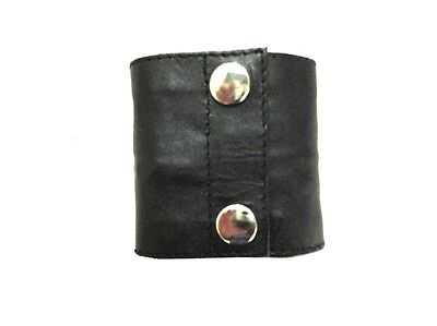Leather Wristband Arm Money Wallet Hand Cuff Wrist Bands Size Medium LLL-7103