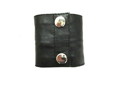 Leather Wristband Arm Money Wallet Hand Cuff Wrist Bands Size Large LLL-7103