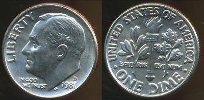 United States, 1981-D Dime, Roosevelt - Choice Uncirculated