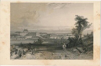 Panoramic view of Versailles France ca. 1860 era antique scenic print