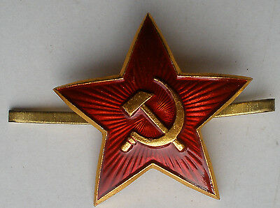 CCCP Russian Soviet army Military cap hat badge Red Star Hammer&Sickle