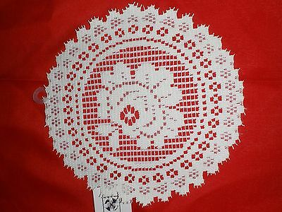 "Great Bay Lace Doilies Victorian Rose  Nwt 8"" Round Ecru Set Of 2"