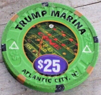 $25 1St Edt Gaming Chip From The Trump Marina Casino Atlantic City