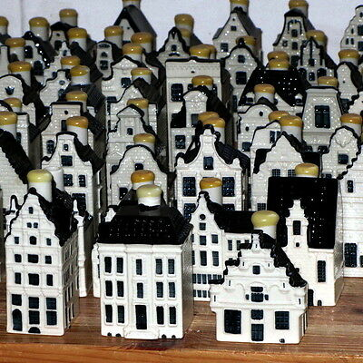 f500f: COMPETE Collection of KLM BOLS DELFT blue Mini HOUSES (01-95)