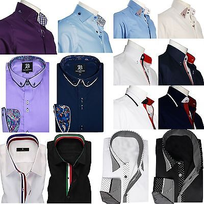 Men's Formal Shirt Men Italian Dress Designer Casual Luxury Shirts S M L XL XXL