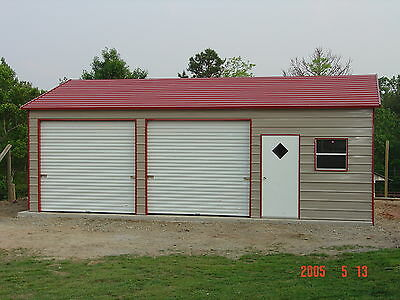 20 x 26 x 9 Metal Garage Delivered/Installed - Perfect Two Car garage