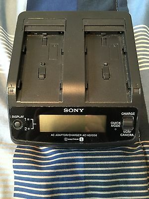 Sony AC-VQ1050 Dual Charger & Adaptor Genuine W/ Accessories