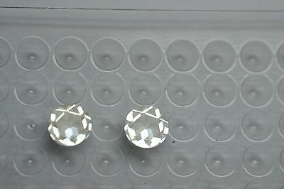 One (1) Loose Rose Cut 6.5mm Moissanite With Certificate of Authenticity