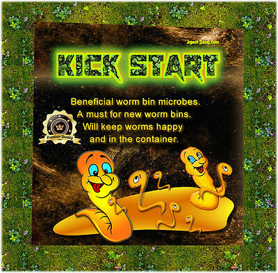 """Worm Composting (""""KICK START"""") --- (2 Lbs) of Beneficial Microbes 100% Organic"""