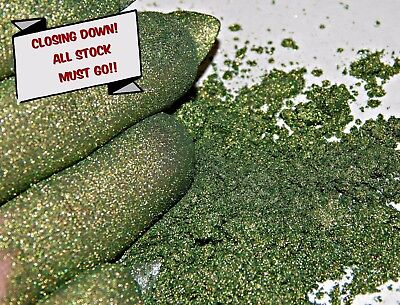 Pearlescent Mineral Mica Powder Pigment 10g - Olive Green CLOSING DOWN