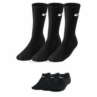 Nike Crew & Ankle No - Show Socks 3 ppk in Black SX4508-001 & SX4721 001