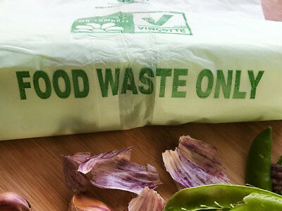 Food Waste LARGE Caddy Bags 20 Bags   30litre   BOGOF/BUY 1 ROLL GET 1 ROLL FREE