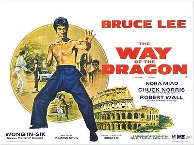 Way of the Dragon (2) - Bruce Lee - A4 Laminated Mini Poster