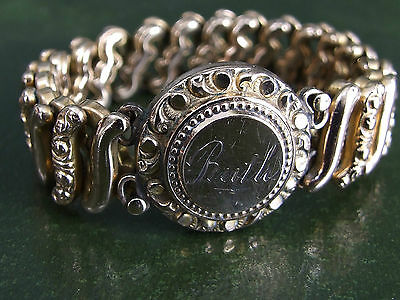 """Victorian Stretch Sweetheart Bracelet Gold Plated """"RUTH"""" Free Ship! GORGEOUS!"""