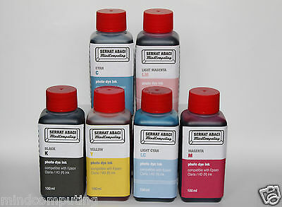 Refill 6x 100ml photo dye ink P50 1500W XP 750 850 860 Epson Claria NON OEM