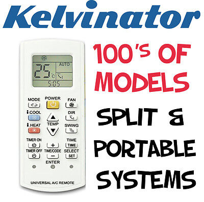 Kelvinator Air Con Conditioner Replacement Remote Split & Portable Systems