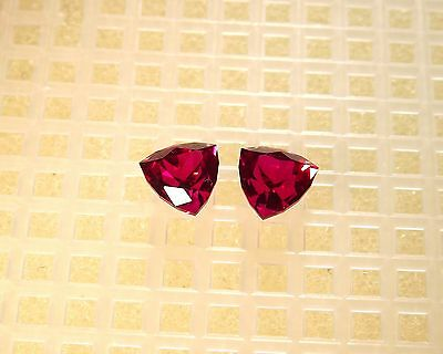 Radical, Flawless Aaa Created Red Ruby (2)6Mm Trillion Matched Pair 2.80Cts