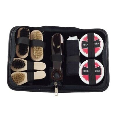 Waproo Deluxe Shoe Care Kit 9 pieces Polish renovating Kit Travel or Gift
