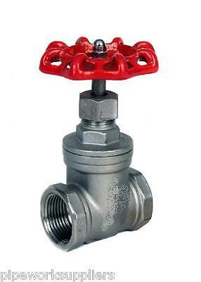 "Stainless Steel Gate Valve  - Bspp Thread  - 1/4"" To 2""  - Rated To 16 Bar"