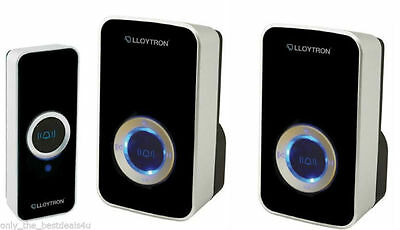 Lloytron Twin Plug In Wireless Door Bell Chime MIP Multi Function MAINS POWERED