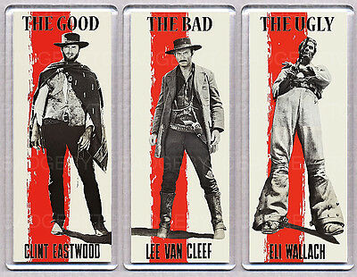 THE GOOD,THE BAD and THE UGLY - SET OF 3 LARGE FRIDGE MAGNETS - EASTWOOD!