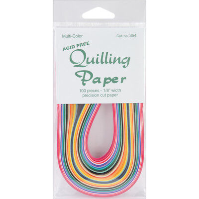 "Quilling Paper 0.125"" (3mm) 100 Per Pack - Multi-Colour"