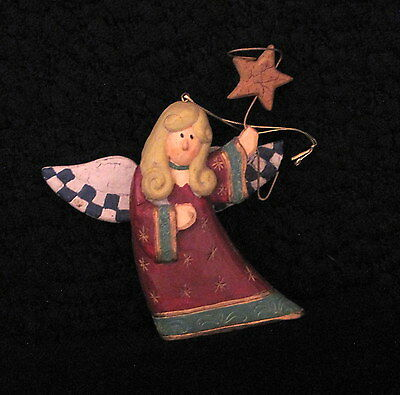 Fabulous Midwest Christmas Angel Holding Star Ornament