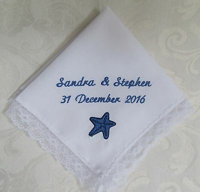 Wedding Handkerchief with STARFISH - Personalized Men & Women Accessories
