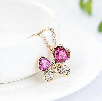 Free Shipping Womens 9K Yellow Gold Filled & AAA CZ Necklace with Pendant Y-D527