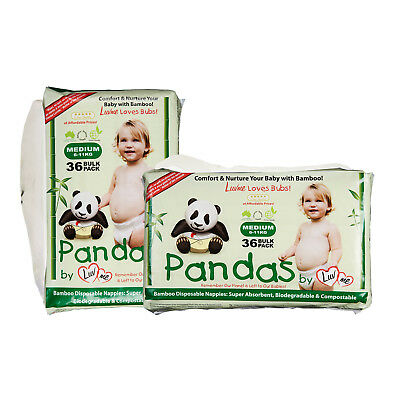 2 BAMBOO ECO Disposable Disposables Nappies Nappy Diapers Pampers Baby Cloth MED