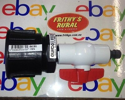 "IBC TANK ADAPTER 60×6mm Pitch FI ×2""FI BSP  With 3/4 PVC TAP/VALE & SNAP Fitting"