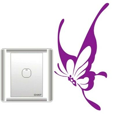 FD1252 Elegant Butterfly Switch Light Funny Wall Decal Vinyl Stickers DIY ~1pc~
