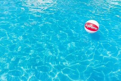 Supreme 2015 S/s Cdg Box Logo Inflatable Beach Ball Water Sports Neil Young Red